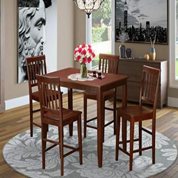 5 Pc counter height Dining set-high Table and 4 dinette