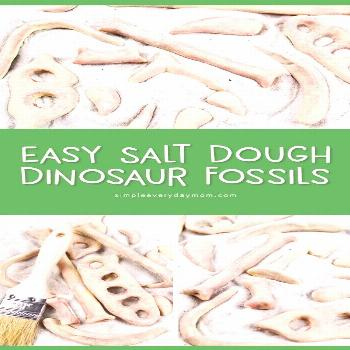 DIY Dinosaur Fossils From Salt Dough | Kids will love making these dinosaur bones and using them in