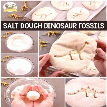How to Make Dinosaur Fossils with Salt Dough - Pre-K Pages
