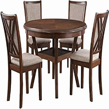 New Classic Furniture Amy 5-Piece Dining Set with 1 Table