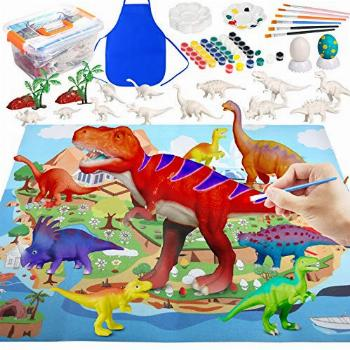PP OPOUNT 71Pcs Dinosaur Painting Kit Arts and Crafts for