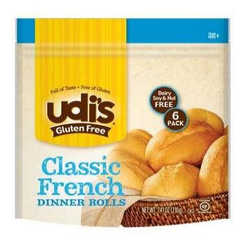 Udi's Gluten-free Classic French Dinner Rolls, 4 Pack, Each