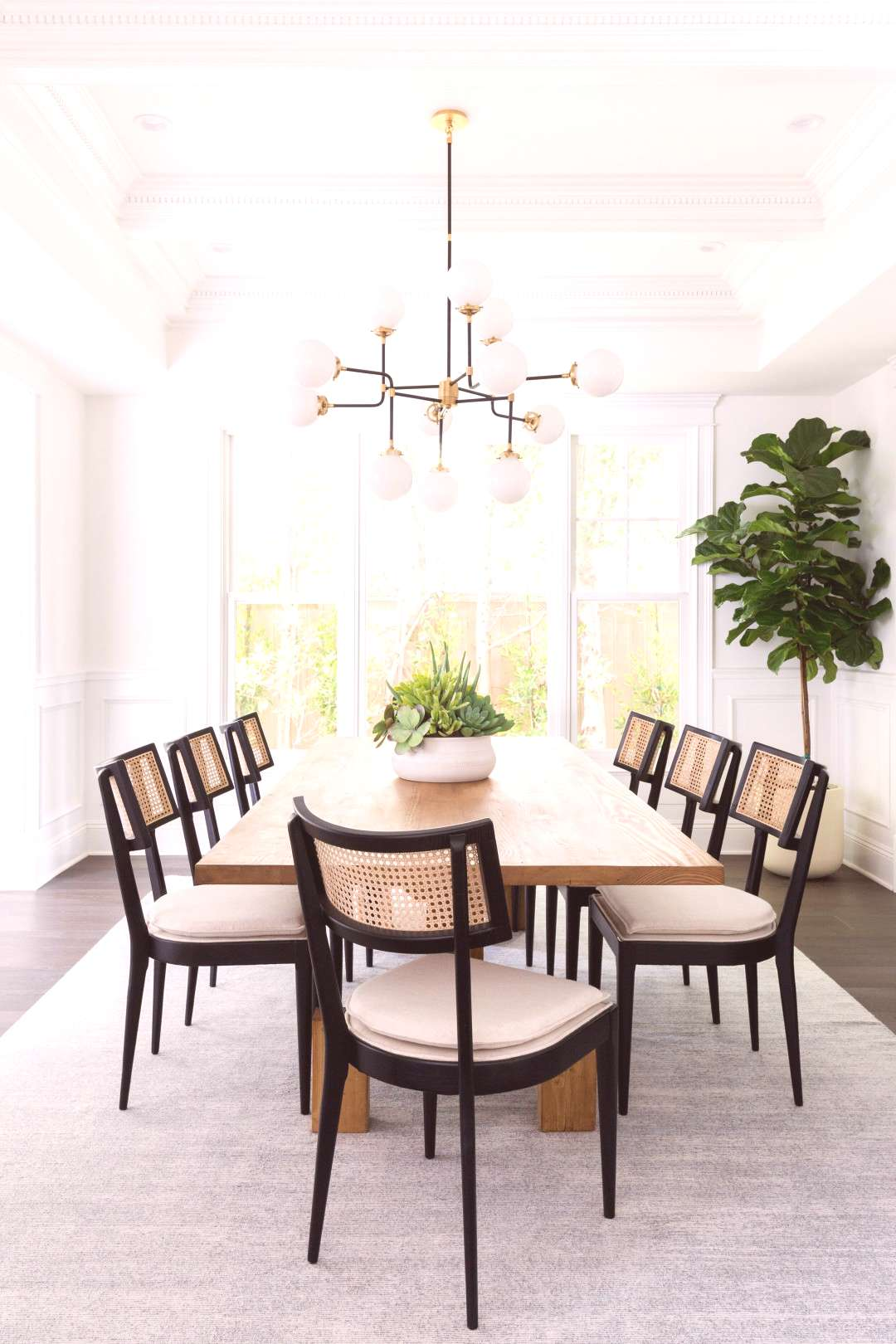 Bright and airy California casual living room and formal dining room by LA interior designer Linds