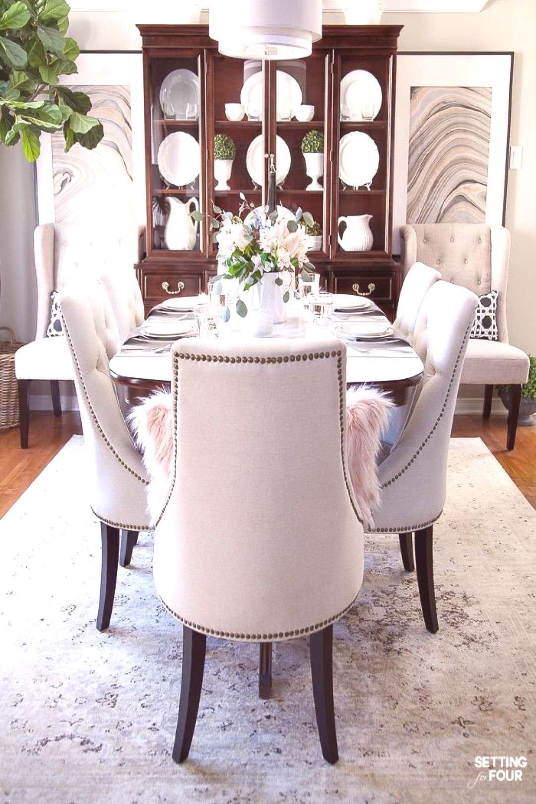 Dining Room Decor Ideas - Transitional Glam Style.