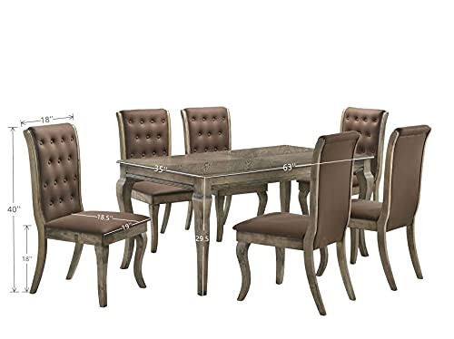 Dining Room Table Set with Tufted Dining Chairs Kitchen amp