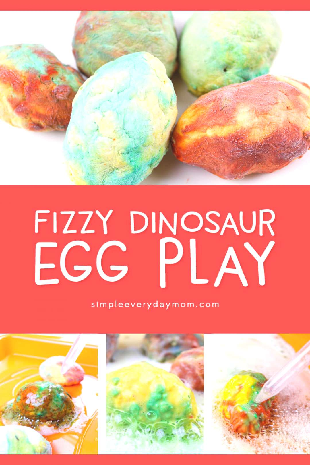 Dinosaur STEM Egg Activity For Kids   Young kids in kindergarten and preschool will love this fizzy