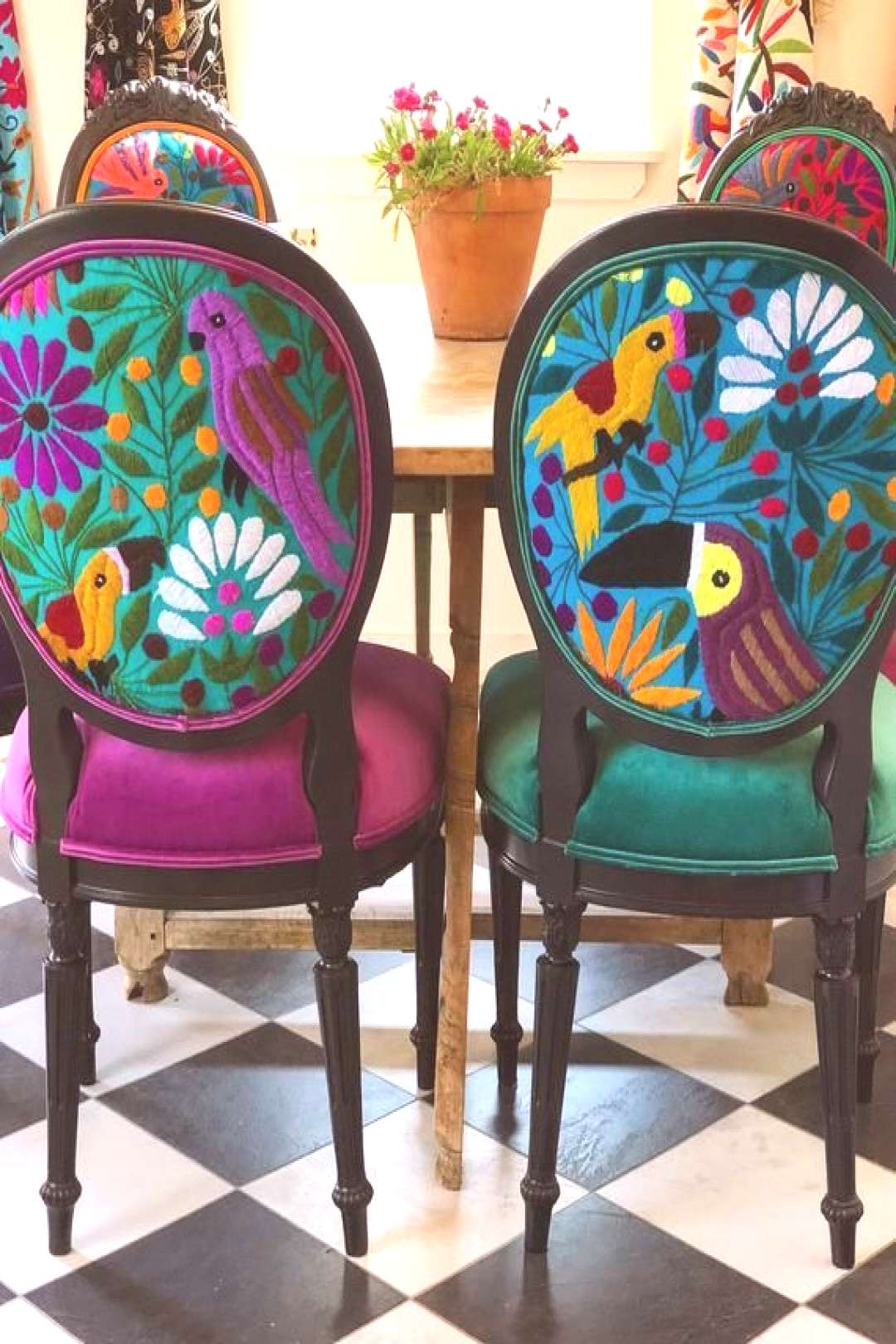Eclectic Boho Dining Chairs -