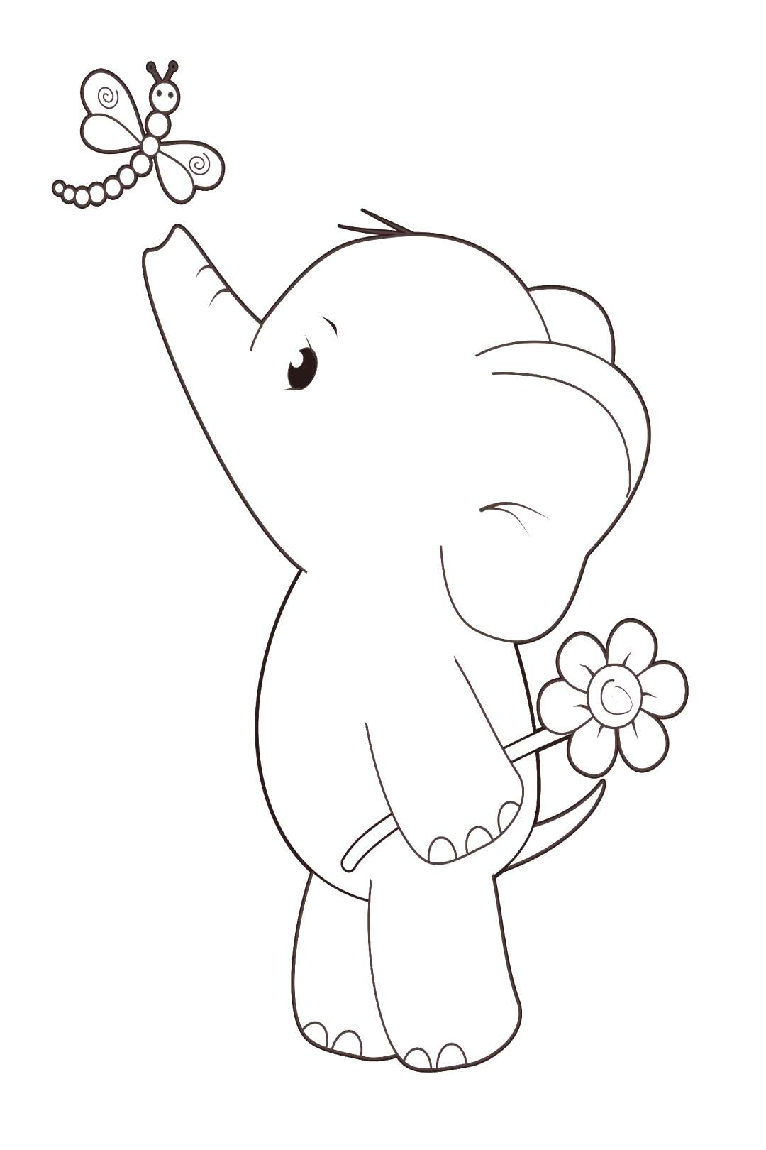 Free Digi Stamp! Ella with Dragonfly Cute Elephant - Simply Cards amp Papercraft magazine