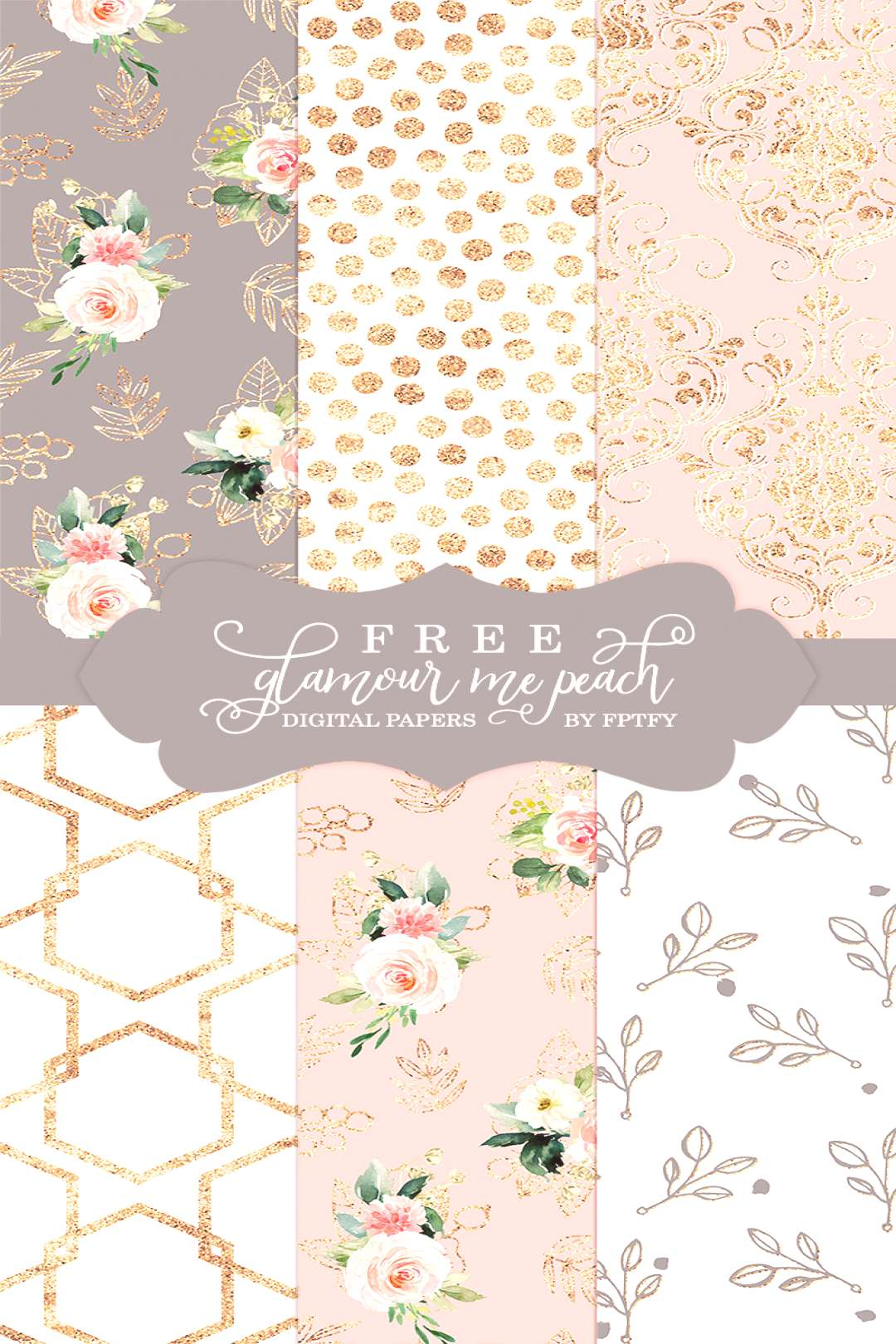 Free Glamour Me Peach Digital Background Papers!!