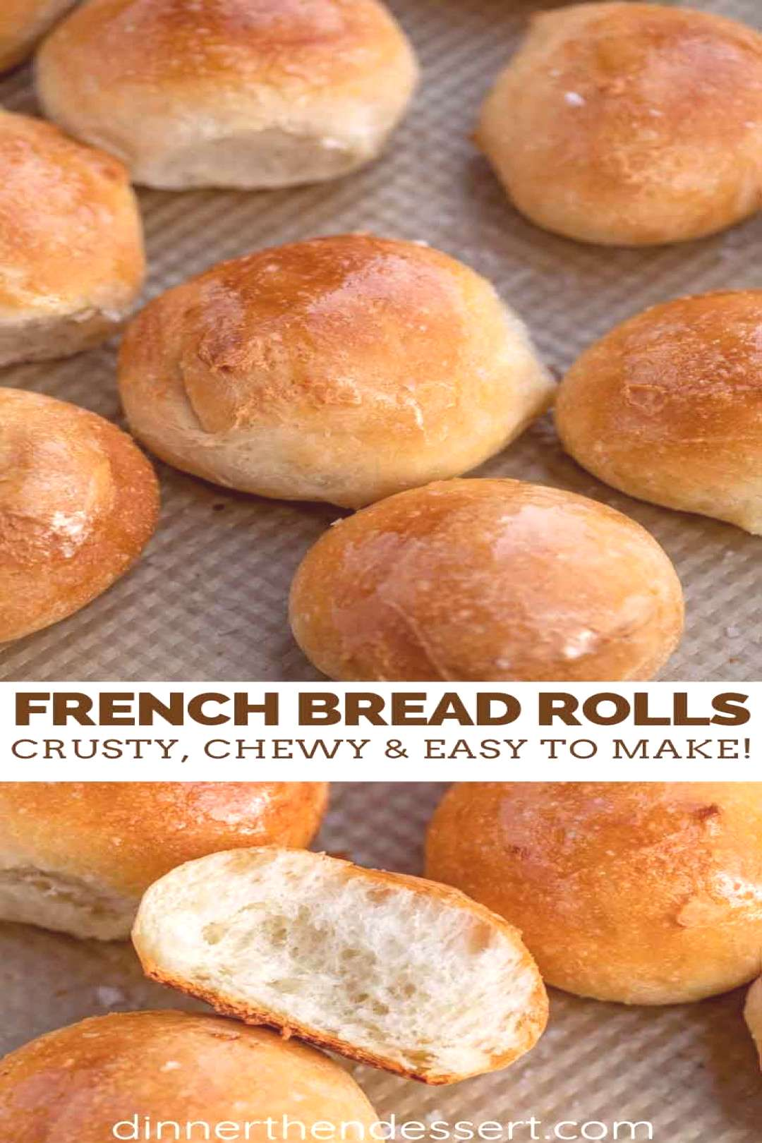 French Bread Rolls are the PERFECT yeast bread to serve on the weekend because theyre warm and flu