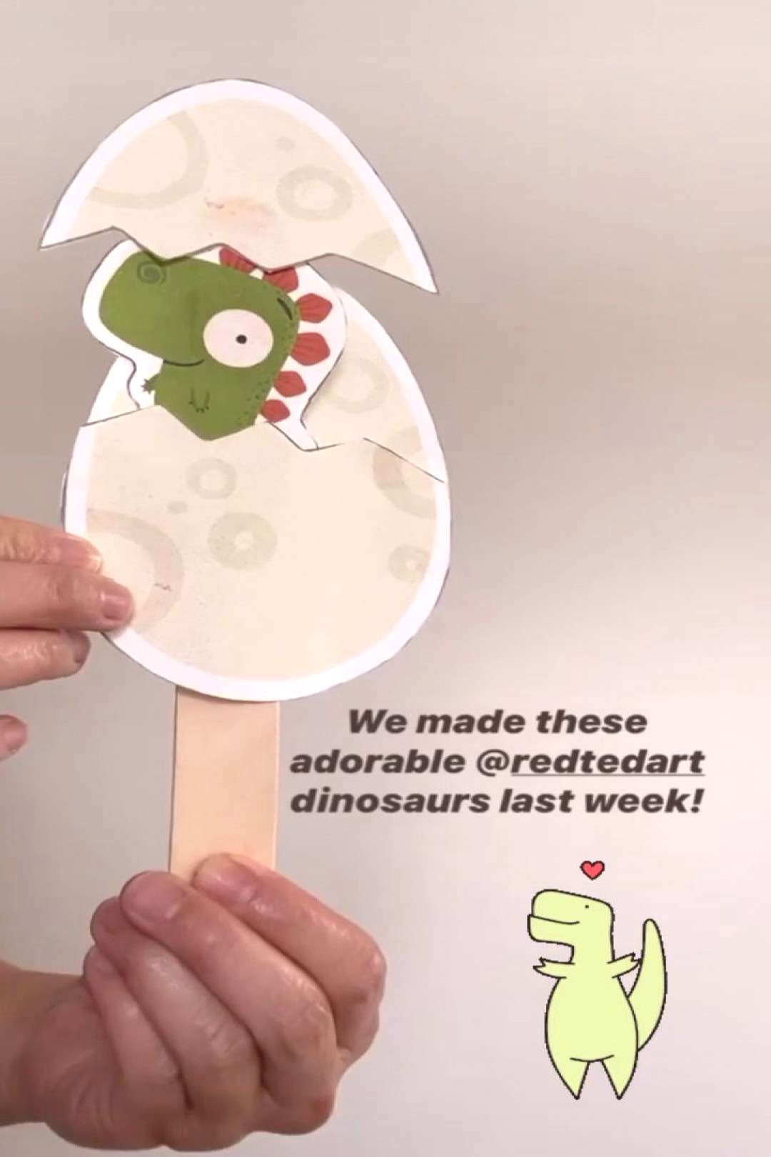Hatching Dinosaur Eggs - Red Ted Art