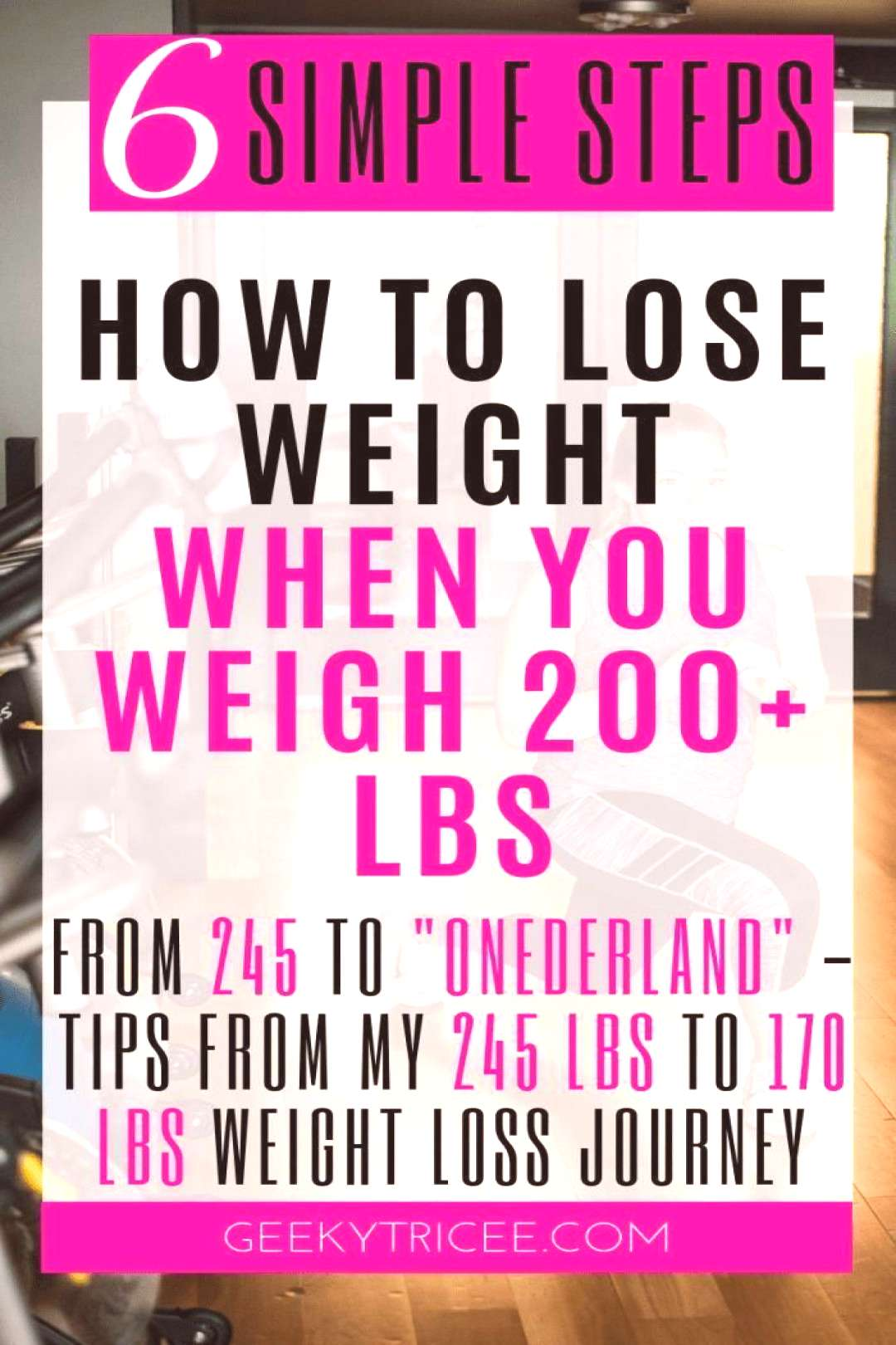 How to simply lose weight if you weigh 200 lbs or more – GeekyTricee