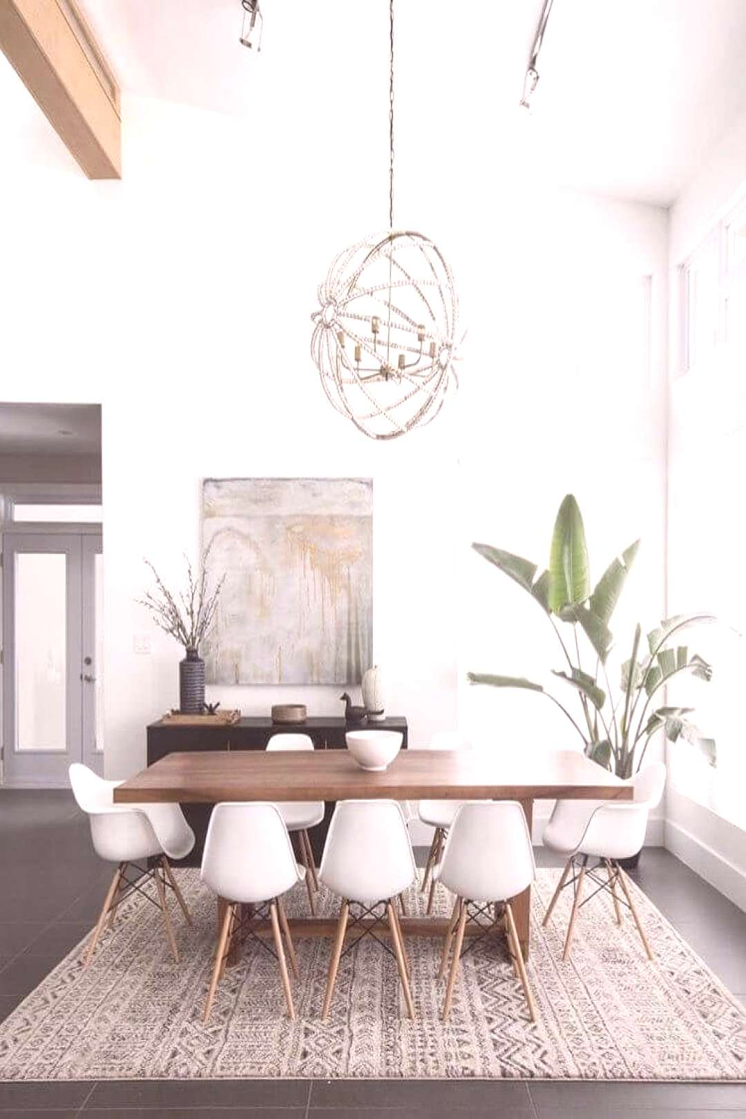 Inspiring dining room tables and chairs for the most social space in the house. gray and yellow din