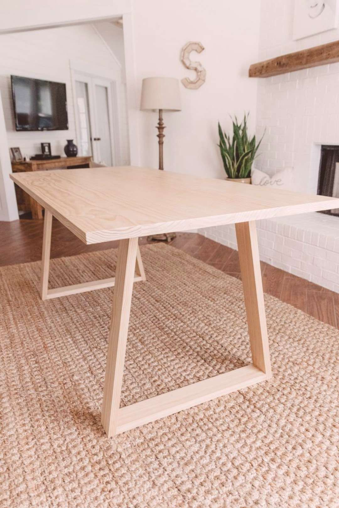 Learn how to build this DIY Modern Dining Table – Woodbrew boho, kitchen table, Scandinavian