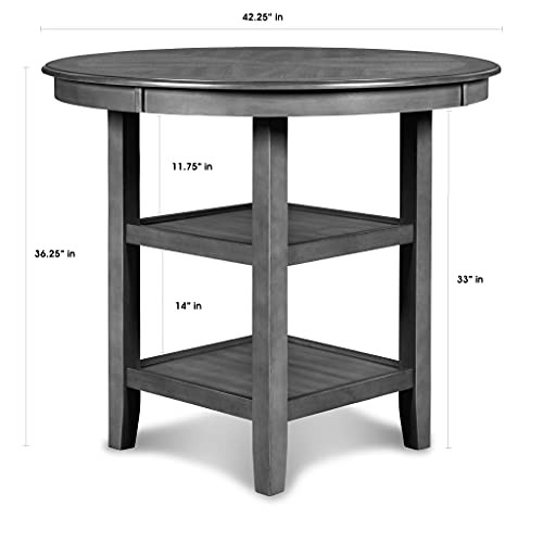 New Classic Furniture Gia 5-Piece Counter Dining Set with 1
