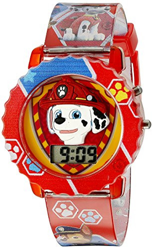 Paw Patrol Kids Digital Watch with Red Case, Comfortable