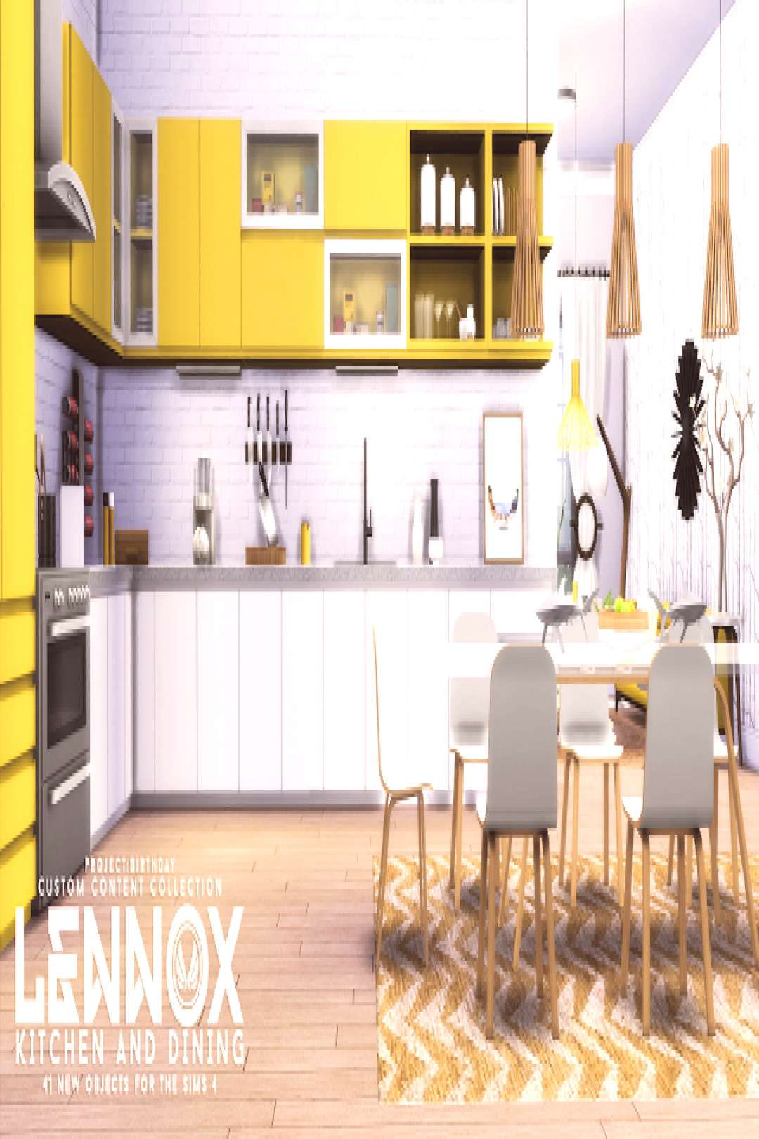 Sims 4 CCs - The Best Lennox Kitchen And Dining Set by Peacemaker ic