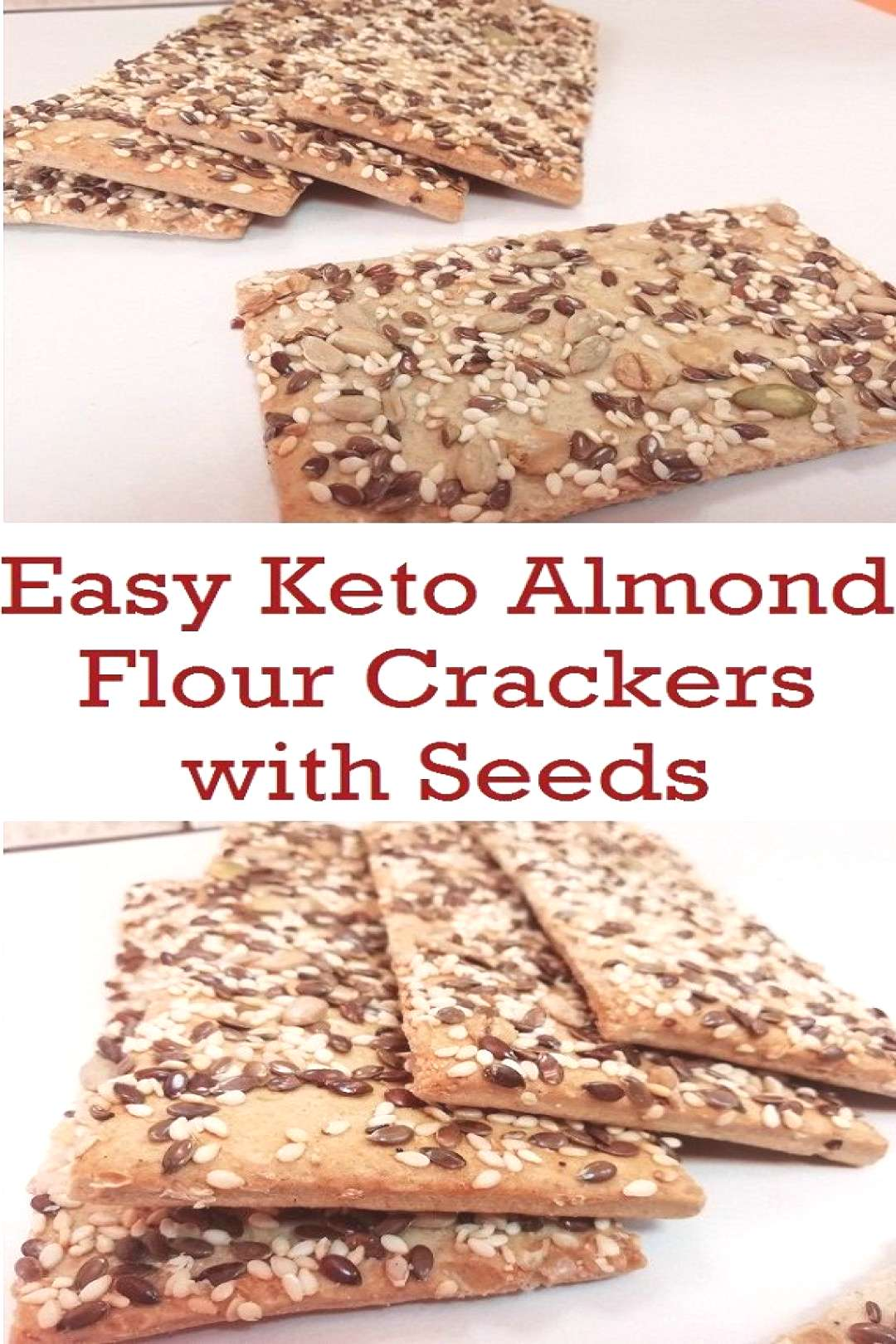 These gluten-free keto crackers are not just deliciously crispy. Pairing these crackers with salted