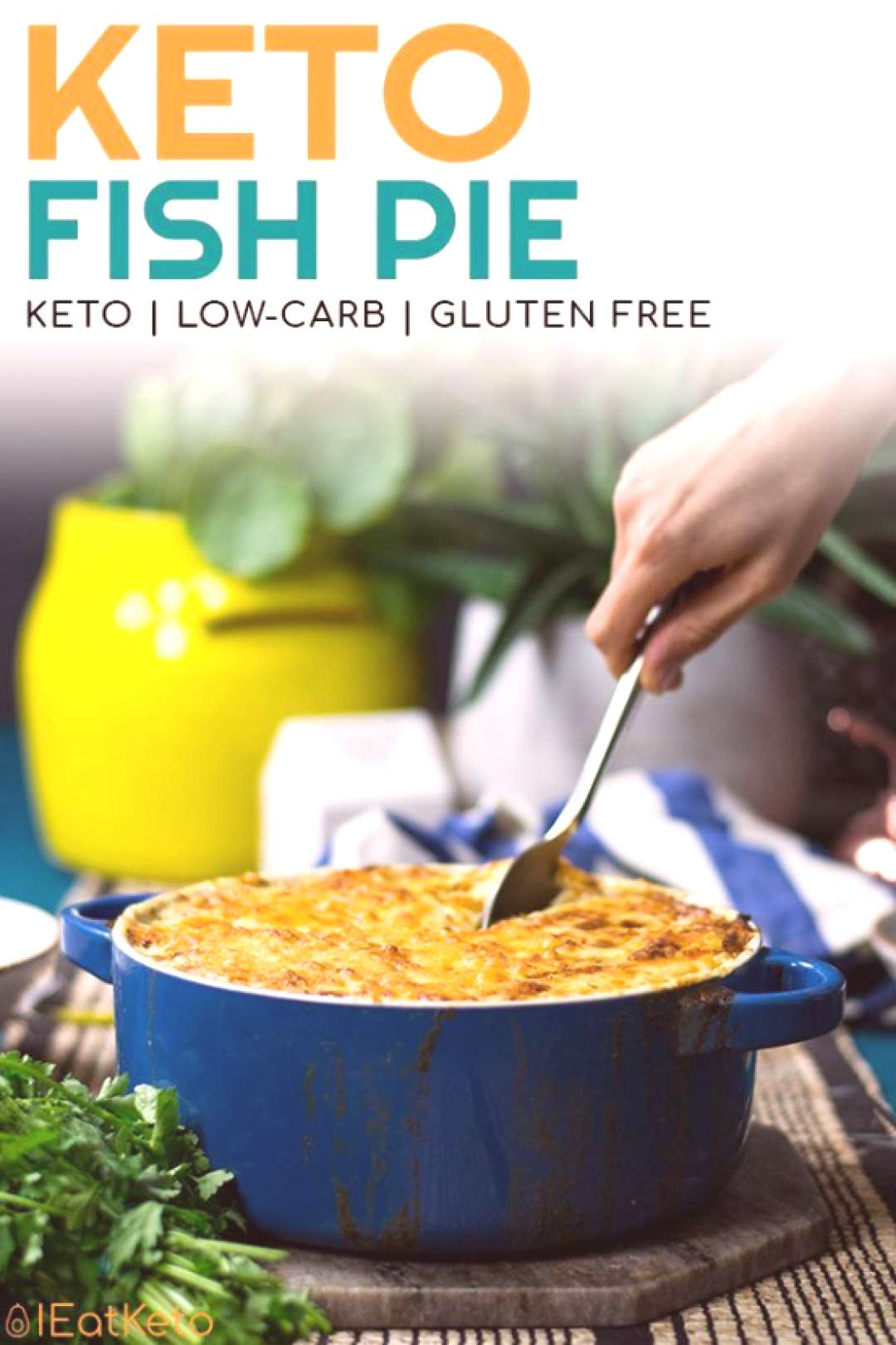 This delicious low carb keto fish pie makes a great keto family dinner on a cold autumn evening.