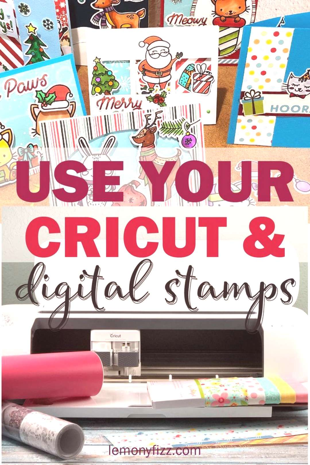 Use your Cricut machine to help you with card making, planner stickers, digital stamping, and other
