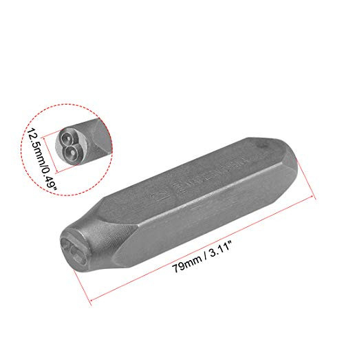 uxcell Number Metal Stamp Set, 1/2 inches 12.5mm, Digital 0