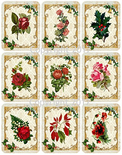 Victorian Images Christmas Flowers Vintage Christmas