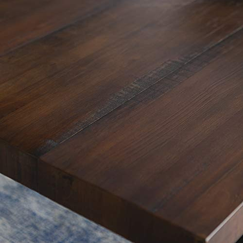 Walker Edison Andre Modern Solid Wood Dining Table, Mahogany